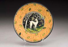 Stag Plate by Terri Kern