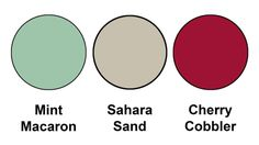 Colour combination mixing the returning Mint Macaron with our existing Sahara Sand and Cherry Cobbler, from Stampin Up! Color Schemes Colour Palettes, Color Combinations, Deep Winter Colors, Color Pairing, Coordinating Colors, Color Inspiration, Cherry Cobbler, Stampin Up, Colorful Plants
