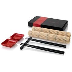 Set Japonais- Tarifs sur devis (contact@objetpubenligne.com) -  TO714821 Set sushi. Servez vos sushis maison grâce à ce set de style japonais. Il contient 2 sets de table, 2 bols en céramique, 2 jeux de baguettes et 2 porte-baguettes. Matière : Dimensions : 25,5 x 15,5 x 3,2 cm, 356 gr colisage : 48, dimensions carton : 48x54x35 cm, poid brut : 19 kg, poid net : 19 kg. Marquage : Tampographie, 40 x 4 mm. Couleurs disponibles : noir/Rouge