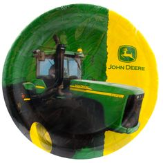 JOHN DEERE Tractor Birthday Party Supply Kit w/ Plates,Napkins, Cups ...