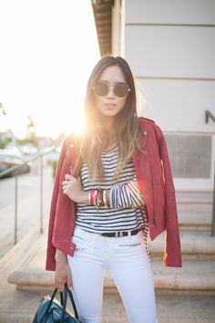 Song of Style: White Jeans for Fall