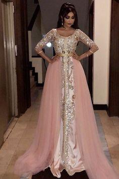 Caftan 2018 - Luxury Moroccan Dresses for Sale Sexy Evening Dress, Lace Evening Dresses, Evening Gowns, Prom Gowns, Arab Fashion, Look Fashion, Muslim Fashion, Dubai Fashion, Muslim Prom Dress