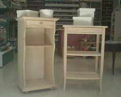 http://www.facebook.com/recrearte.taller.  Contamos con un amplio catálogo de muebles en madera natural con posibilidad de hacerlos a medida.