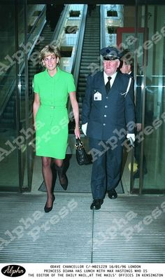 January 16, 1996: Diana Princess of Wales has lunch with Max Hastings,editor of the Daily Mail in London.