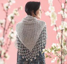 Lace Edge Shawl by Yarnspirations Crochet Kit