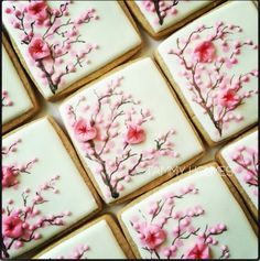 Cherry blossom cookies by Tammy Holmes https://www.etsy.com/listing/166913325/cherry-blossom-cookies
