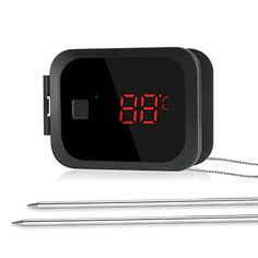 Inkbird IBT-2X Thermomètre Viande Bluetooth Thermometre Cuisine avec 2 Sonde TemperatureInterieur Thermometre pour FourBBQ Thermometre Cuisson Exterieur pour Grille BarbecueBoeufPoulet Digital Alarm Clock, Barbecue, Home Decor, Meat, Kitchens, Barbacoa, Bbq, Interior Design, Home Interior Design