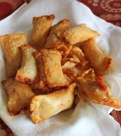 homemade pizza rolls...the ball and chain eats the prepackaged stuff constantly.  i slipped these in causually and after a cautious first bite they were sold!  you can stuff whatever you like inside...A+
