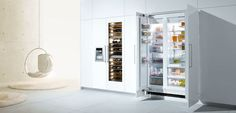 Able Appliances Ltd offers top brands home appliances online such as Bosch Refrigerators at cheap rates in NZ. Commercial Appliances, Home Appliances, Bosch Appliances, Open Cabinets, Scandinavian Kitchen, Wine Storage, Kitchen And Bath, Bathroom Medicine Cabinet, Modern Design