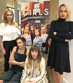 Haute hipsters: (left to right) Zosia Mamet, Allison Williams, Lena Dunham and Jemima Kirke cut chic figures while promoting the final season of their HBO comedy