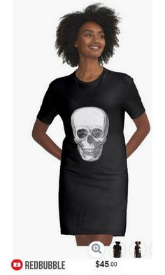 Vintage Skull Tshirt Dress Women #artbyurte