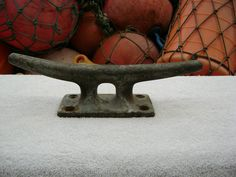 12 inch Old Galvanized SHIP Boat Dock Cleat Chock Decor 0265 | eBay