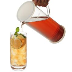 Lucent Glass Iced Tea Jug w/ Capsule Infuser (48 oz./1420 ml.)