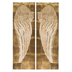 Angel's Wing Panel - Set of 2 | Wall Decor | Mirrors & Wall Decor | Decor | Z Gallerie