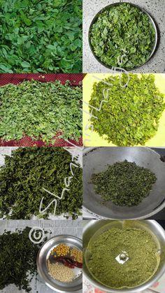 Drumstick leaves powder recipe, Murungai ilai podi recipe, How to clean drumstick leaves easily?