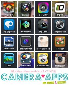Best Camera Apps for iPhone and Android @Amanda | Kevin and Amanda Wow! http://blogregateapps.com