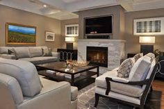 modern fireplace and wall mount televisions photos - Yahoo! Canada Search Results