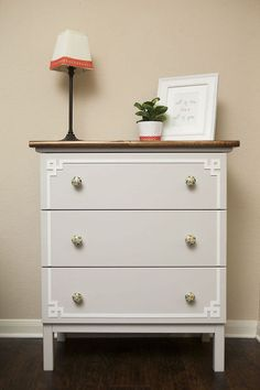 ikea hack tarva dresser, painted furniture, repurposing upcycling, Ikea Hack Tarva Dresser; dressed it up with O'verlays in the Pippa Tarva 2 style.