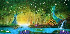 Whimsical Forest Backdrop by TheatreWorld provides the perfect setting for all film or live productions. Painting Wallpaper, Wall Wallpaper, Jungle Theme, Jungle Jam, A Kind Of Magic, Midsummer Nights Dream, Halloween 2019, The Little Mermaid, Wall Murals