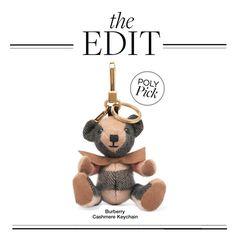 """""""The Edit: Burberry Cashmere Keychain"""" by polyvore-editorial ❤ liked on Polyvore featuring Burberry and theedit"""