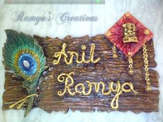 Decorative Name Plates For Home get free high quality hd wallpapers decorative name plates for home Handmade Wooden Name Plate Done By Me Happy Hand Made Crafts