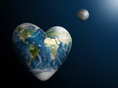 Heart-Shaped Earth: A whimsical artist's view of our home planet. | Credit: NASA