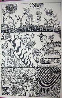 zen tangle journal page