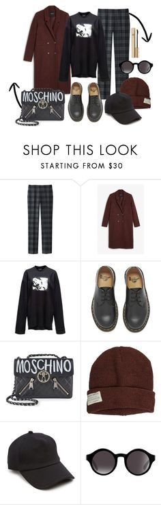 """BGM"" by xxelectre on Polyvore featuring Uniqlo, Monki, Puma, Dr. Martens, Moschino, Krochet Kids, rag & bone e Dolce&Gabbana"