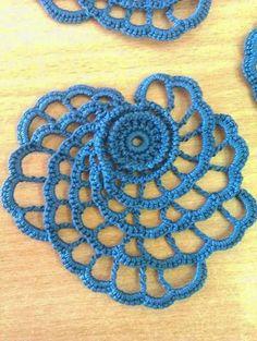 Ажурная роза для ирландского кружева. Irish crochet. | Из бабушкиного сундучка