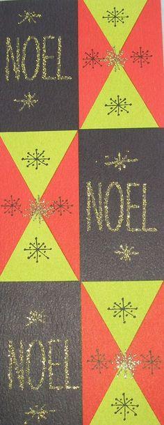 Vintage Mod Noel Card