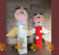 Wooden post angel- Holzpfosten Engel Angel on a wooden post. The wooden post angel is about 55 cm high and decorated with various wooden parts. Wooden Crafts, Diy And Crafts, Crafts For Kids, Christmas Decorations, Christmas Ornaments, Holiday Decor, Christmas Gifts For Brother, Preschool Christmas Crafts, Wooden Angel