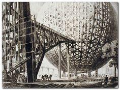 Hugh Ferriss NY World Fair 1939 - Construction