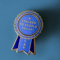Show your social anxiety who's boss, and then reward yourself with this introvert award pin. Congrats on talking to people today! hard enamel pin with gold metal edging comes with rubber clutch and backing card. The Bright Sessions, Metal Edging, Dear Evan Hansen, Cool Pins, Hard Enamel Pin, Pin And Patches, Pin Badges, Introvert, Lapel Pins