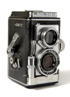 Ansco Reflex Automatic, SteamPunk Twin Lens Camera from the 50's