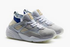 Puma Baskets bleu/gris Trinomic Bog Sock X Careaux