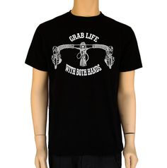 GrabLife With Both Hands-Bike Shirt | Bicycle Shirt | Men's T Shirts | Bike T Shirt | graphic tees | Tshirts | Gifts for him | S-2XL by BANKUSSI on Etsy