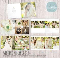Wedding Album Template  12 x 12 Photoshop by PaperLarkDesigns, $34.95 www.etsy.com/shop/paperlarkdesigns