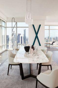 on vous présente la table en marbre! | tables en marbre, belle vue ... - Salle A Manger Contemporaine Blanche