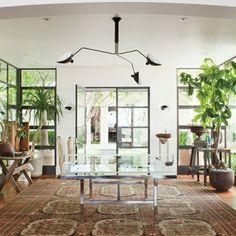 ellen & portia's foyer (with table tennis). | AD.com
