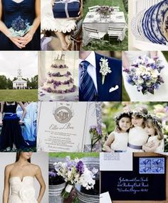 Navy, White and ? :  wedding navy white color palette Navybl