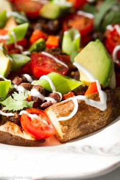 Black Bean and Potato Nacho Plate | Oh She Glows | #recipe #vegan