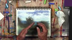 Especially interested in the way the trees are done. Daler-Rowney - Simply Sketching - How to draw with Soft Pastels