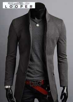 Cesar's look for the big event! Picture the jacket in indigo, the sweater in camel and scratch the belt.