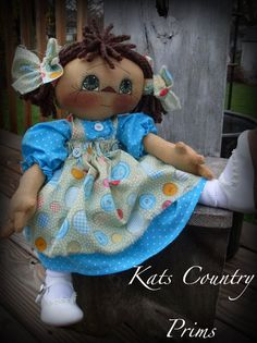 ~ Primitive Raggedy Little Annie /& Kitty by Ginger Creek Crossing PATTERN #322 ~