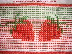 ARTESANATOS TRANSITÓRIA: frutas bordadas no ponto oitinho