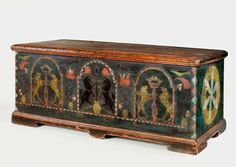 Lift-top chest inscribed to Frederick Kleh, 1795 | Antique Furniture
