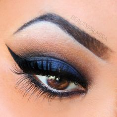 Turn up the drama with a sexy black smokey. Don't forget the liquid liner and sky high lashes.