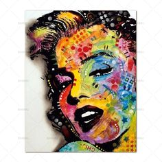 (1) Wall Art Picture prints Marilyn Monroe on canvas Wall Art Pictures, Pictures To Paint, Print Pictures, Canvas Artwork, Canvas Prints, Canvas Frame, Marilyn Monroe Art, Colorful Paintings, Figure Painting