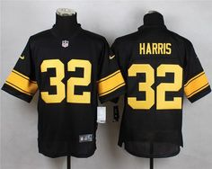c59f2b9fe8b ... Pittsburgh Steelers 32 Franco Harris Black With Yellow Retired Player  Nike NFL Elite Mens Jersey ...