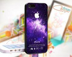Purple Blue Galaxy Nebula Apple - design for iPhone 4/4S Black case | DreamCase - Accessories on ArtFire